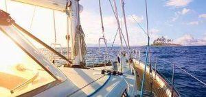 boat sailing in the ocean