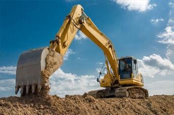 excavator machine working