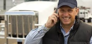 man calling truck financing for approval