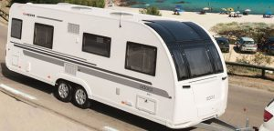 recreational vehicle in the road